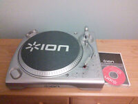 ION LP DOCK turntable record player
