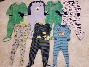 Lot of 7 Carter's Sleepers in LNC & EUC 18-24 months