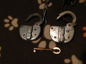 Antique CPR & CNR Railroad lock and key