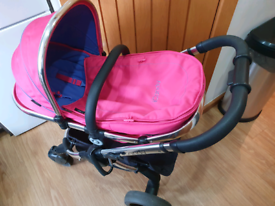 icandy Peach 3 fuchsia travel system
