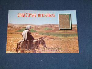 CHRISTMAS BLESSINGS-SOIL FROM THE HOLY LAND-UNUSED POSTCARD