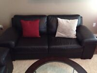 Leather Urban Barn Sofa and Love Seat