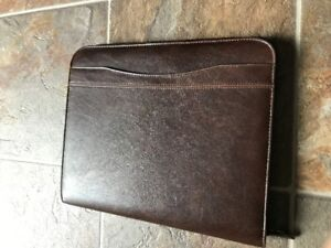 Leather Organizer - barely used. ipad or Surface Pro Tablet fits