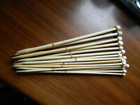 8 Sets Carbonized Bamboo Knitting Needles New   5.0mm - 10.0mm
