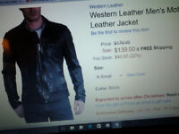 Lambskin mens motorcycle jacket