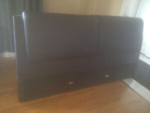 King Sized Brown Leather Headboard From Leon's