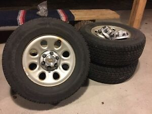 Toyo Open Country G-02 Plus Snow Tires on Steel Wheels