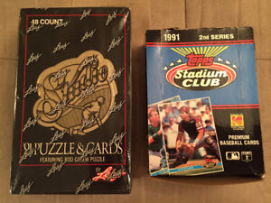 Two Wax Boxes of 1991 Baseball Cards / Factory Sealed !