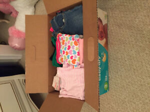 Assorted 6 month baby girl clothing