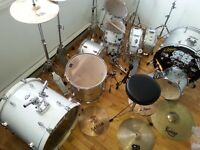 pearl export white  full kit + cbr drums full kit, 2drum fullkit