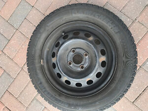 5 TIRES WITH RIMS WENTER 185 65 R 14 MICHELIN X ICE BOT PAT 4 X