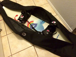 Gently used women's snowboard and bindings