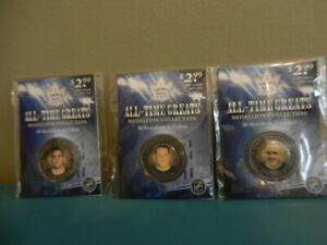 Toronto Maple Leafs All-Time Greats Medallions Lot of 3