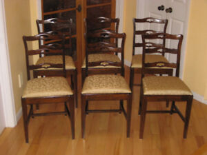 Mint Cond. Antique Ribbon Back Dining Chairs. Duncan Phyfe Tabl