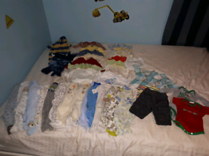 0 - 6 month boys clothes - 106 items