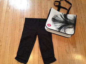 LULULEMON - Size 8 - Grey crops. Great condition!