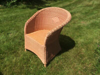 Wicker summer chair