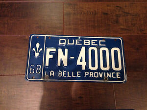 License Plate - PLAQUE D'IMMATRICULATION