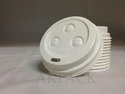 Kaffeebecher Deckel Weiß - Coffee to go Becher - für 0,2l & 0,3l Pappbecher Neu Becher Deckel