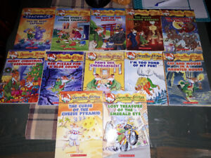 Geronimo Stilton books and Diary of a wimpy kid