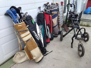 J,ai différent équipement de golf avec chariot de 15.00 à 65.00