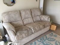 Co-op Cream 3 Piece Suite £200 ono