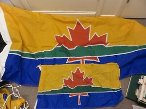 CITY OF THUNDER BAY FLAGS, ONE FULL SIZE AND ONE SMALL SIZE GOOD
