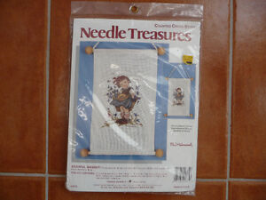 Brand New Counted Cross Stitch Kit - Hummel Banner