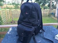 Lowepro camera backpack and small camera bag