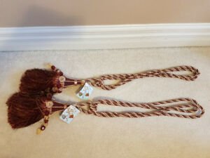 Pair of Tassel Tiebacks for Curtains