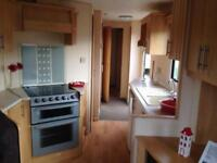 Cheap 6 berth starter static caravan on the Ayrshire coast at Sandylands