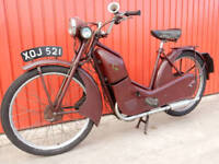 NEW HUDSON AUTOCYCLE 98cc 1958 IN SUPER CONDITION READY TO PLAY