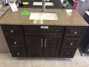 "48"" Solid Wood Vanity with Top (Display Model) $416 OFF"