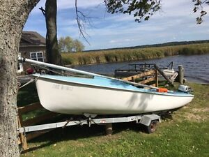 16 foot sailboat with trailer