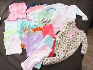newborn baby girl clothes worn once