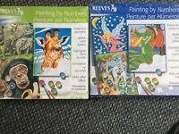 REEVES painting by numbers 2 sets!!!