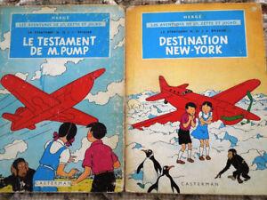 2 albums bd de Jo, Zette et Jocko par Hergé