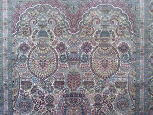 Very Fine Hereke Hand-Knotted Silk Rug - 800-850 kpsi North Shore Greater Vancouver Area image 6