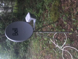 Bell express view dish with easy set up tri pod  $100