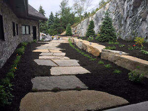 Armour stone, thin stone veneer, step material- quarry direct