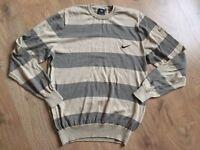 NEW Mens Striped Nike Sweater Jumper Winter Warm Casual Size Medium