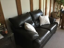 2 seater 'land of leather ' brown leather sofa