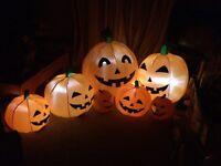 Giant self inflating pumpkin family Halloween