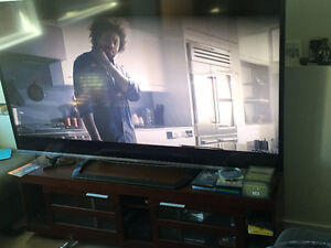 Beautiful 80 inch sharp tv with stand
