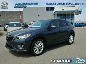 2014 Mazda CX-5 GT  Leather, Bose stereo, Sunroof and Warranty!
