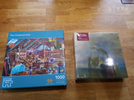 Lockdown Jigsaws: Turner Painting and Cluttered Attic Both 1000 pieces