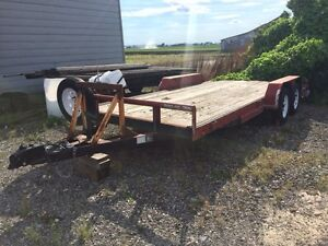 18ft tandom car trailer with winch