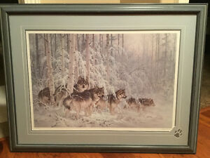 Larry Fanning Wolf Print - Crystal Forest