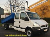 2010/ 10 Vauxhall Movano 2.5Dci Lwb 7 seats D/Cab Tipper [ Low Mileage 10,157 ]