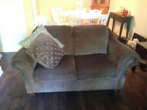 SO comfortable brown couches - loveseat and 3-seater